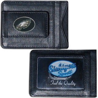 Philadelphia Eagles Leather Money Clip and Cardholder