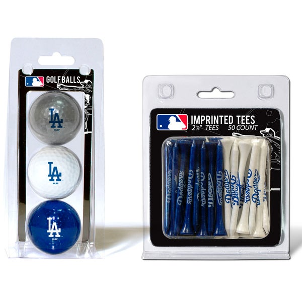 MLB Los Angeles Dodgers Golf Ball and Tee Set