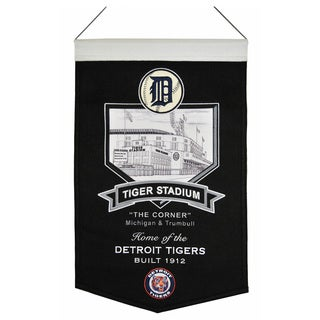 MLB Detroit Tigers Tiger Stadium Wool Banner
