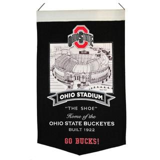 NCAA Ohio State Buckeyes Wool Stadium Banner