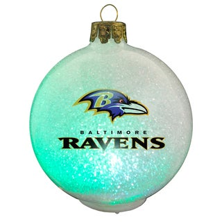 NFL Baltimore Ravens Color Changing LED Ornament
