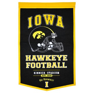 NCAA Iowa Hawkeyes Wool Powerhouse Banner