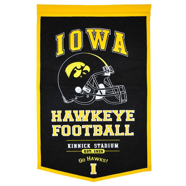 NCAA Iowa Hawkeyes Wool Powerhouse Banner 12059055