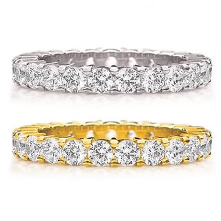 14K Gold 2ct TDW Machine-set Shared Prong Diamond Eternity Band (H-I, I1-I2)