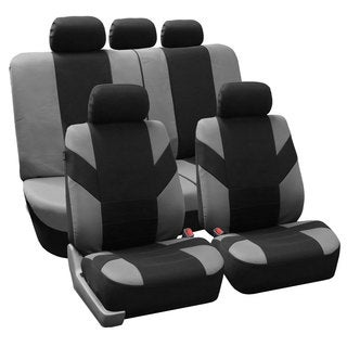 FH Group Gray 'Road Master' Car Seat Covers (Full Set)