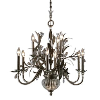 Cristel De Lisbon 9-light Golden Bronze Chandelier