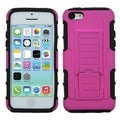 BasAcc Hot Pink/ Black Armor Stand Case for Apple iPhone 5C