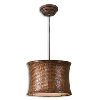 Marcel 2-light Copper Pendant with Hanging Shade