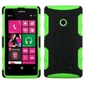 BasAcc Black/ Electric Green Armor Stand Case for Nokia Lumia 521