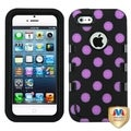 BasAcc Polka Dots TUFF eNUFF Hybrid Case for Apple iPhone 5/ 5S