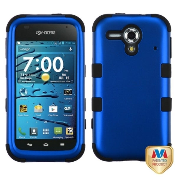 INSTEN Dark Blue/ Black TUFF Hybrid Phone Case Cover for Kyocera Hydro Edge