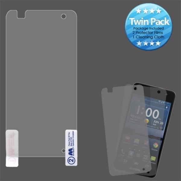 INSTEN Clear Screen Protector Twin Pack for Kyocera Hydro Elite