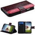 BasAcc Dark Reddish Purple MyJacket Wallet Case for Samsung Galaxy S4