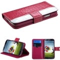 BasAcc Hot Pink/ White MyJacket Wallet Case for Samsung Galaxy S4
