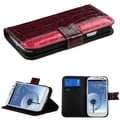 BasAcc Dark Reddish Purple MyJacket Wallet Case for Samsung Galaxy S3