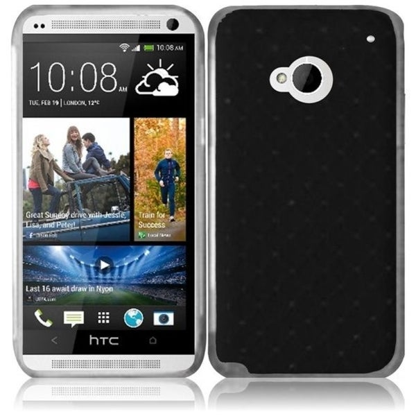 INSTEN Black Diamond Phone Case Cover for HTC One M7