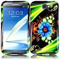BasAcc Aqua Flower Case for Samsung Galaxy S Note 2 N7100