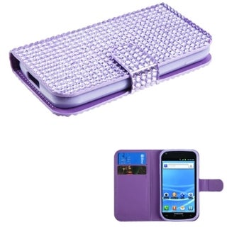 BasAcc Purple Diamonds MyJacket Wallet Case for Samsung T989 Galaxy S2