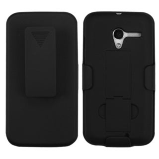 BasAcc Black Hybrid Holster with Stand for Motorola Moto X