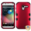 BasAcc Titanium Red/ Black TUFF Hybrid Case for Motorola Moto X