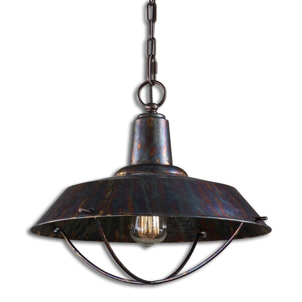 Uttermost Arcada 1 Light Oxidized Bronze Pendant