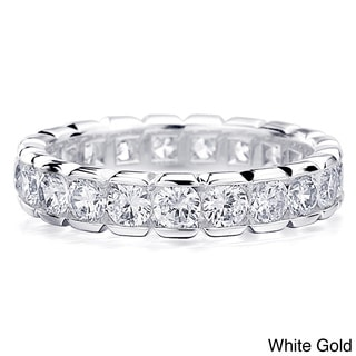 14K Gold 2ct TDW Round Diamond Eternity Wedding Band (H-I, I1-I2)