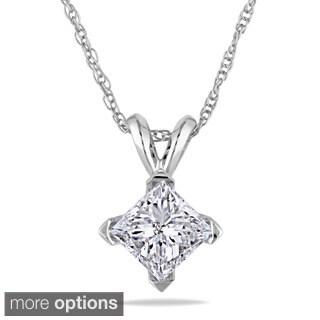 Miadora Signature Collection 14k Gold 1ct TDW Diamond Solitaire Necklace (J-K, I2-I3)