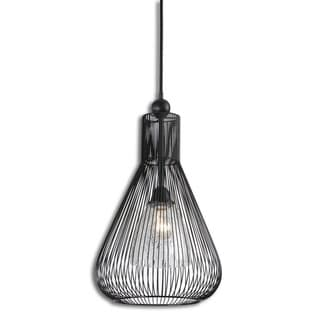 Calumet 1-light Matte Black Metal Pendant