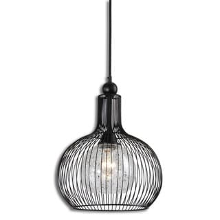 Casnovia 1-light Matte Black Metal Pendant