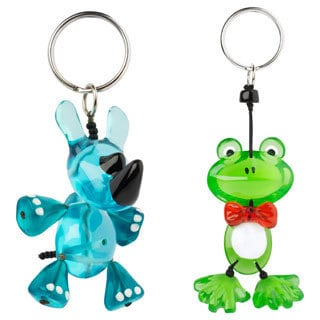 Set of 2 Rhino and Froggy Keychains (Bulgaria)
