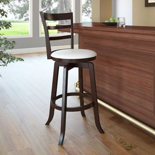 Woodgrove Espresso/ Cream Wood Barstool