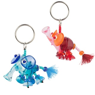 Set of 2 Elephant Keychains (Bulgaria)