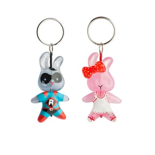 Set of 2 Bunny Keychains (Bulgaria)