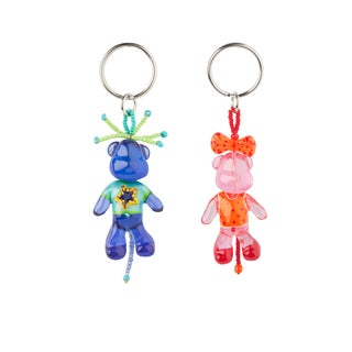 Set of 2 Rock Star and Fashionista Dog Keychains (Bulgaria)