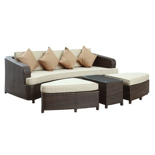 Monterey Outdoor Patio Sectional Tan Sofa