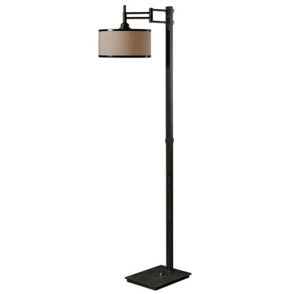 Uttermost Prescott 1-light Dark Chocolate Metal Floor Lamp