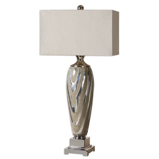 Uttermost Allegheny 1-light Polished Silver Table Lamp