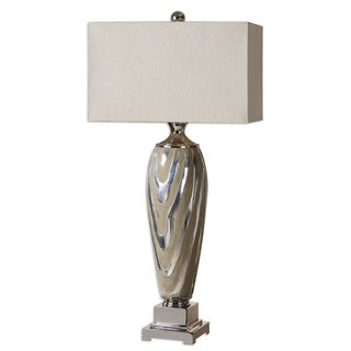 Allegheny 1-light Polished Silver Table Lamp