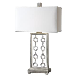 Arlena 1-light Antique Silver Leaf Table Lamp
