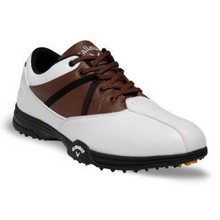 Callaway Chev Comfort Men's White and Brown Golf Shoes