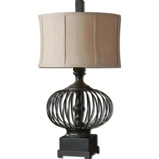 Uttermost Lipioni 1-light Rustic Black Table Lamp