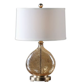 Arielli 1-light Amber Glass Table Lamp