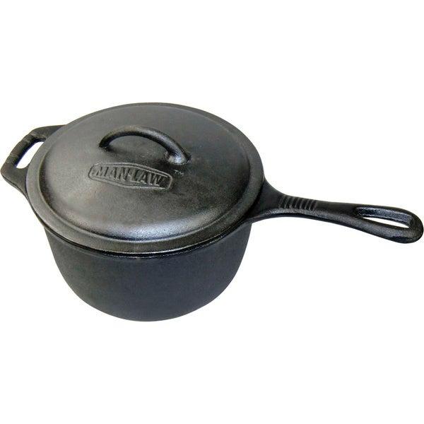 Man Law Cast Iron 3-Quart Grill Pot
