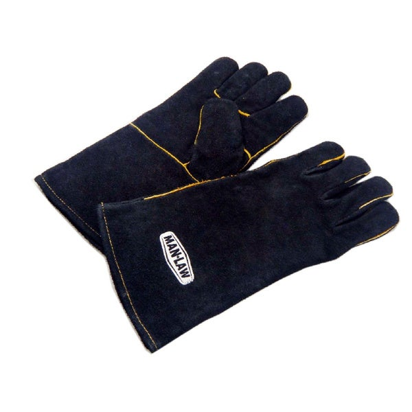 """Man Law Leather Gloves with 14"""" Gaunlet"""