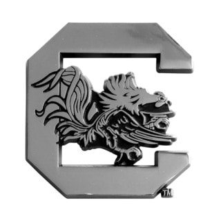 Fanmats NCAA South Carolina Chromed Metal Emblem