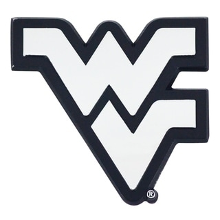 West Virginia Chromed Metal Emblem