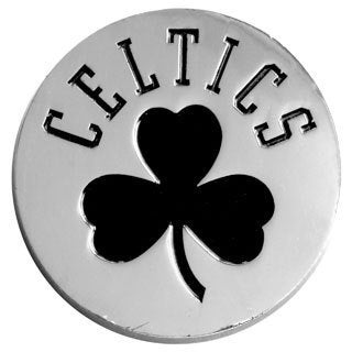 NBA Boston Celtics Chromed Metal Emblem