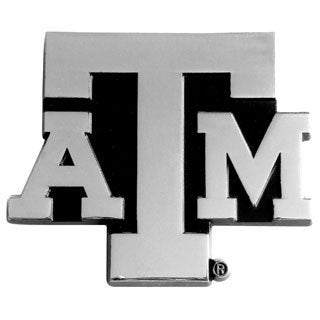Texas A&M Chromed Metal Emblem