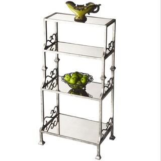 Mirrored Metal 4-shelf Etagere