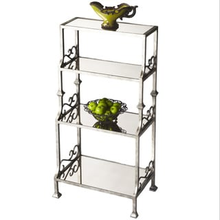 Mirrored Metal 4-shelf Etagere